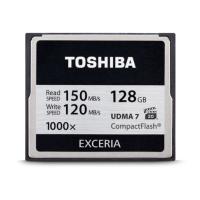 Карта памяти TOSHIBA Compact Flash 128 Gb 1000x (R150, W120MB/s) // 6301294