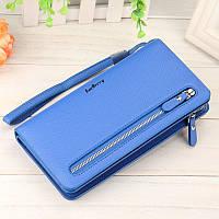 Женский кошелек Baellerry (портмоне, клатч) Синий + серьги-шарики в подарок
