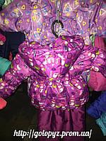 """Демисезонный костюм  модель """"Крошка""""  снеговик малина цветной"""