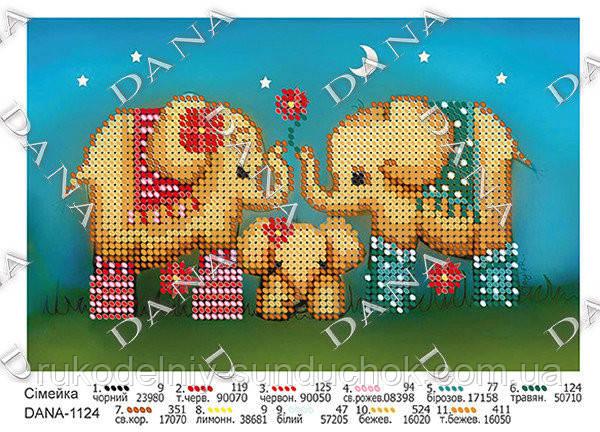 Схема для вышивания бисером DANA Семейка 1124