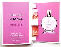 Парфюмерное масло Chanel Chance Eau Tendre 5 мл духи с феромонами для женщин