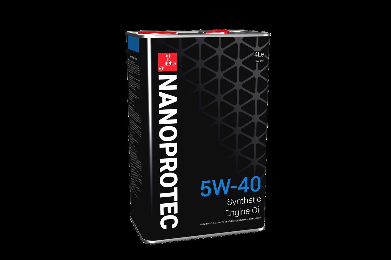 Синтетическое моторное масло Nanoprotec Engine Oil 5w-40 4L