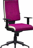 Кресло Спейс Алюм HB Papermoon-014 фиалковый/боковины Неаполь-50 белый
