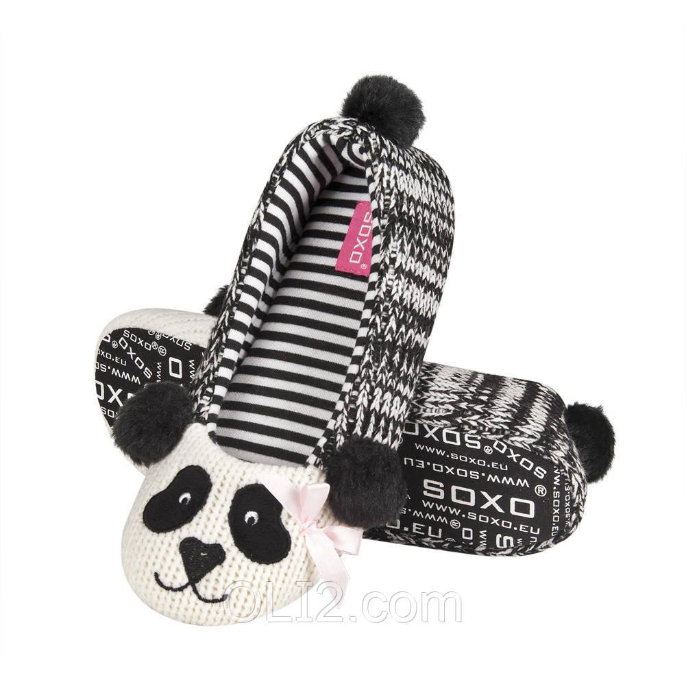 Тапочки домашние женские прикольные SOXO на подарок
