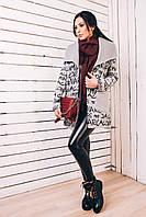 Женское пальто на осень 2017 из шерсти  с трикотажем