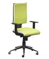 Кресло Спейс Алюм HB Неаполь-34 салатовый/боковины Неаполь-50 белый