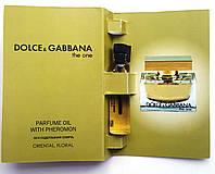 "Парфюмерное масло Dolce & Gabbana ""The One"" 5 мл, духи с феромонами для женщин"