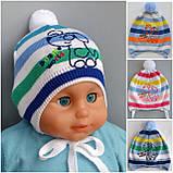 Легкая детская шапочк на 9 месяцев, фото 5