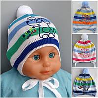 Детская шапочка на 9 месяцев на ветряную погоду