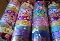 Скотч декоративный АССОРТИ УЗОР 10видов блеск 15-3-10-MIX (ширина 15мм, длина 3м) уп10 ящ1200