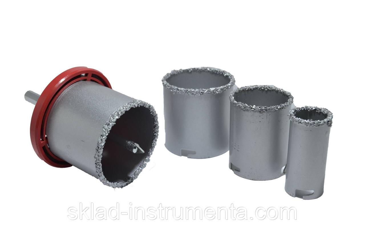 Набор корончатых сверл для плитки 5 ед c вольфрамовым напылением