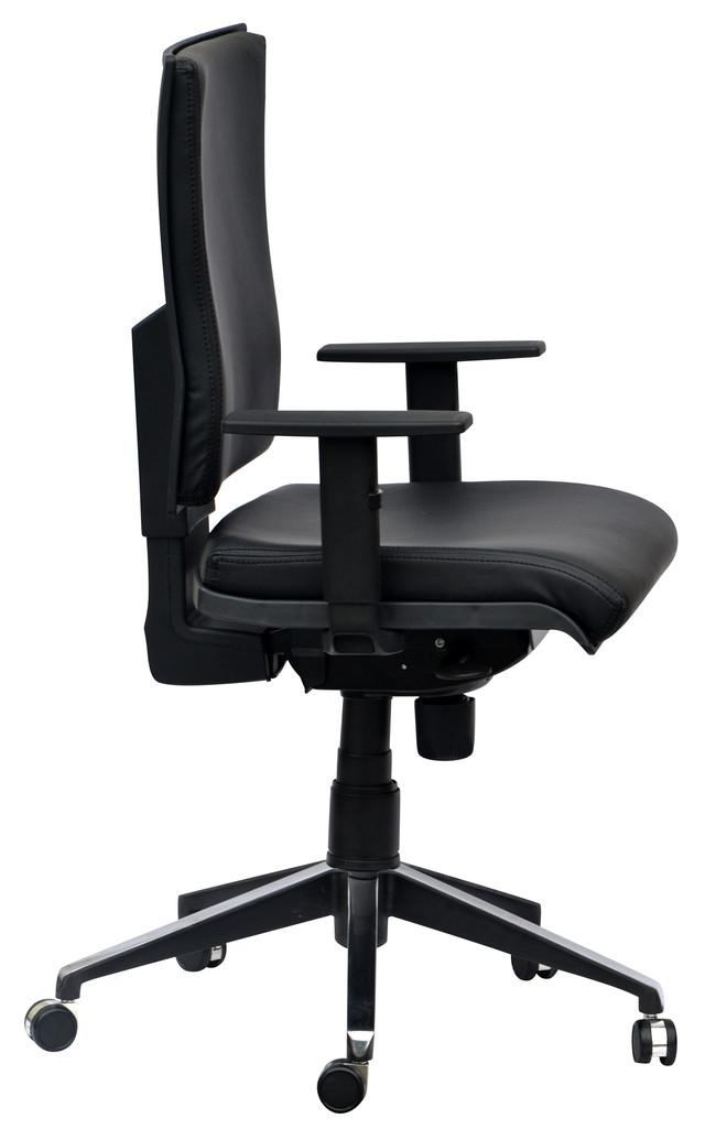 Кресло Спейс Алюм HB Неаполь-20 чёрный/боковины Неаполь-20 чёрный.