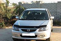 Дефлектор капота (мухобойка) Mazda 323 SF 2000-2003 Vip Tuning MZD05