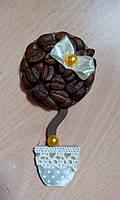 """Магнит-топиарий сувенир """"Кофейное Деревце"""", мал."""