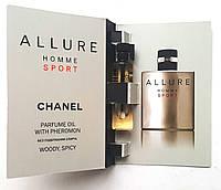 "Парфюмерное масло Chanel ""Allure Homme Sport"" 5 мл, духи с феромонами для мужчин"
