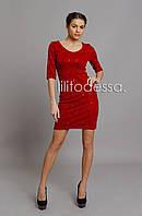 Платье вечернее бордовый, фото 1