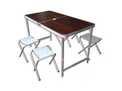 Стол туристический + 4 стула  (60Х120см)