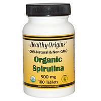 Органическая спирулина, 500 мг, 180 таблеток, Healthy Origins, Organic Spirulina
