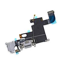 Шлейф разъема зарядки, разъема гарнитуры, микрофон iPhone 6 белый