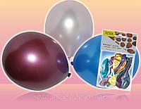 Воздушные шары круглые разноцветные металик 23см 10шт/уп