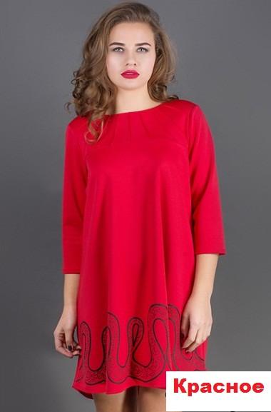 d2867954afc Купить Платье свободное молодежное-красное продажа в интернет ...
