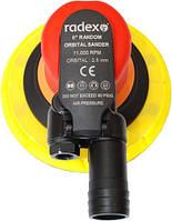 Пневматическая шлифовальная машинка RADEX d150мм, эксцентрик 2.5мм/5мм  420025