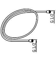 Шланг душевой Hydra гибкий 1,5м с системой  против скручиваний Oras-241060-60