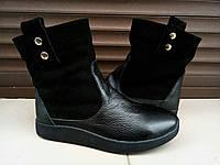 Кожаные с замшем ботиночки
