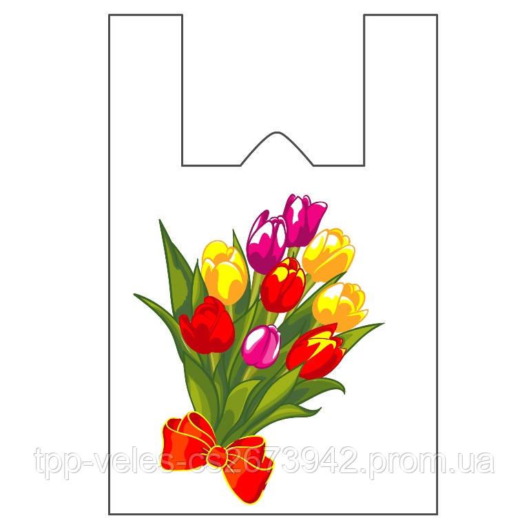 Пакет майка «Тюльпаны»36(8)х57,25