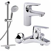 Комплект Grohe BauFlow 121624 умыв,ванна,стойка