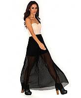 Новое платье-бандо в пол с пайетками Missguided