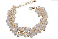 Звезная россыпь позолоченный браслет с кристаллами Сваровски золото 750 проба