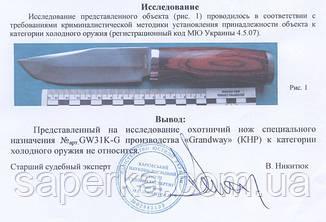 Нож многоцелевой нескладной Grand Way 31 KG, фото 2