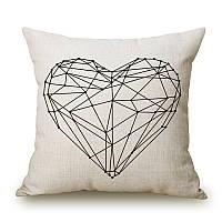 "Декоративная подушка ""Сердце"", 43*43 см"