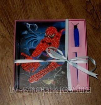 Блокнот с ручкой Спайдермен