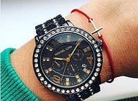 Часы женские Мишель Корс со стразами, копия бренда