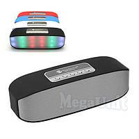 Портативная Bluetooth колонка New Rixing NR-2014 2*3W с подсветкой (microSD, USB, FM, HF)