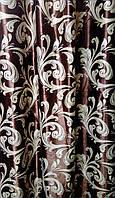 Шторная Ткань Блэкаут Катрин 24 (Коричневый/Серый)