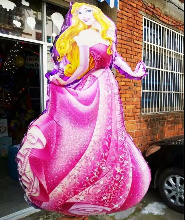 Принцесса Аврора фольгированный воздушный шар 89 см.
