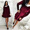 Платье бархатное свободного кроя, фото 4
