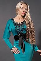 Платье женское мод№210-1,размер 40 бирюза