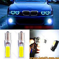 Авто-лампы P21W BA15S 1156 4 COB LED 6000K (светодиодные габариты, стопы, лампа заднего хода)