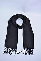 Шарф платок мужской унисекс черный бахрома