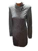 Платье женское серое