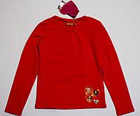 Детская кофта для девочки красная р.122