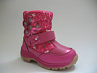 Термо ботиночки мигалки для девочек от ТМ B&G 23р.