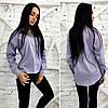 Рубашка женская в полосочку котоновая, фото 2