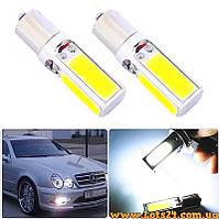 Авто-лампы P21W 4 COB LED (BA15S, 1156, габариты, стопы, поворты, светодиодная лампа заднего хода)