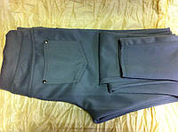 Брюки леггинсы стрейчевые,цвет серый