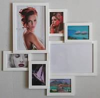 Мультирамка «Белая волна» на 7 фотографий (10х15 см)